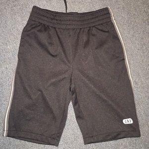 Gap black basketball shorts.  White trim. Sz 6-7.